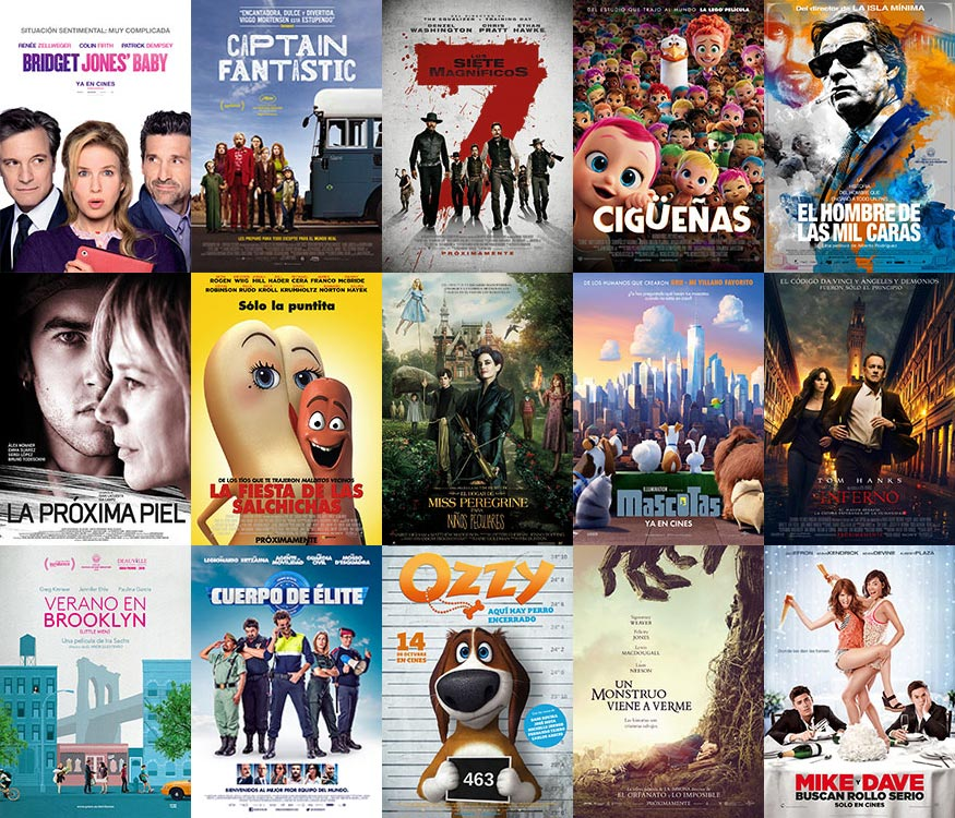Cartelera fiesta del Cine octubre 2016
