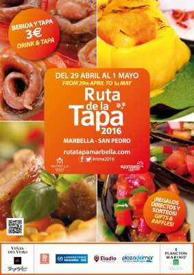Cartel de la Ruta de la Tapa Marbella 2016