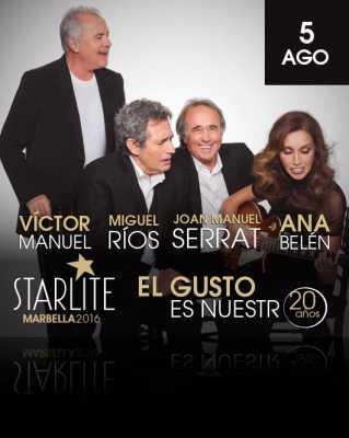 Ana Belén, Victor Manuel, Miguel Ríos y Serrat en Starlite Marbella 2016