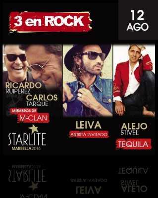 Leiva, Alejo Stivel, Carlos Tarque y Riicardo Ruipérez en Starlite Marbella 2016
