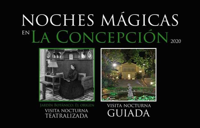 Visitas nocturnas al Jardín Botánico 2020. Noches Mágicas La Concepción