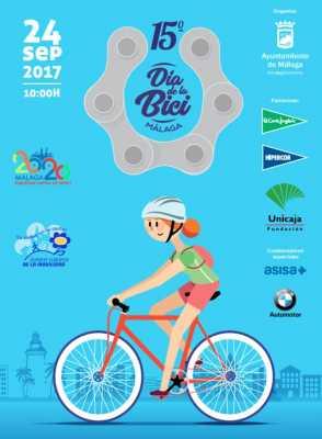 Cartel del Día de la Bicicleta de Málaga 2017