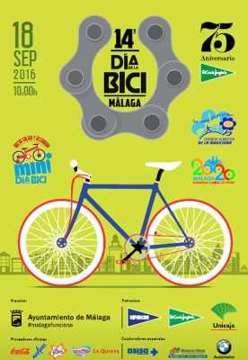 Cartel del Día de la Bici de Málaga 2016