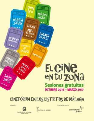 Cartel Cine en tu Zona 2016-2017 Distritos de Málaga