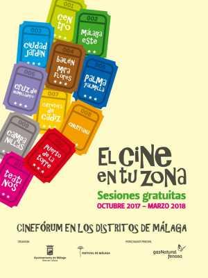 Cartel Cine en tu Zona 2017-2018 Distritos de Málaga