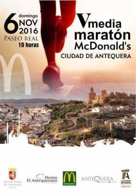 Cartel de la Media Maratón Ciudad de Antequera 2016