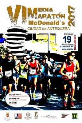 Cartel de la Media Maratón Antequera 2017
