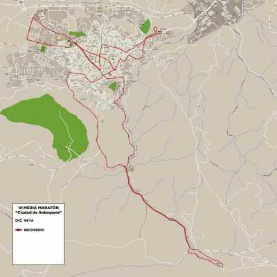 Recorrido de la Media Maratón Antequera 2017