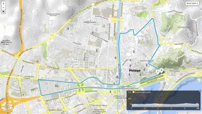 Recorrido Carrera Urbana Ciudad de Málaga 2017
