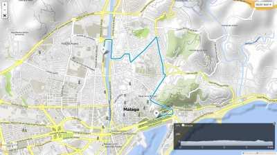 Recorrido Mini Carrera 4km Ciudad de Málaga 2017