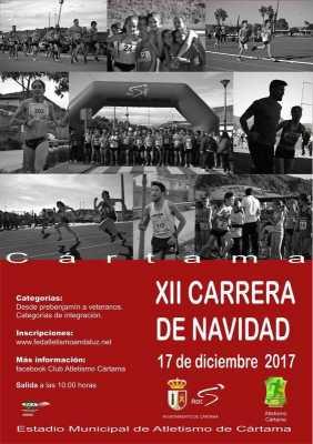 Cartel de la Carrera de Navidad Cártama 2017