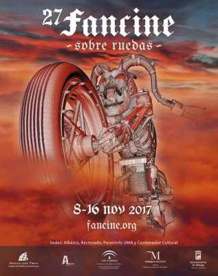 Cartel del Fancine 2017. Festival de Cine Fantástico Universidad de Málaga