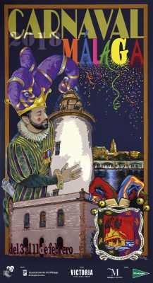 Cartel del Carnaval de Málaga 2018