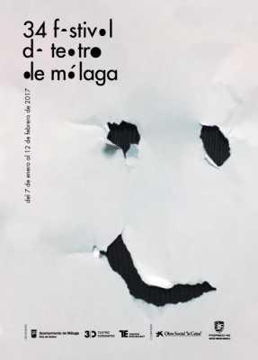 Cartel del 34 Festival de Teatro de Málaga 2017