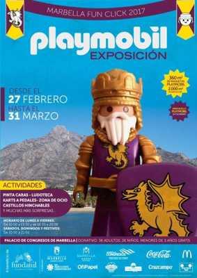 Cartel de la Exposición Playmobil Marbella 2017