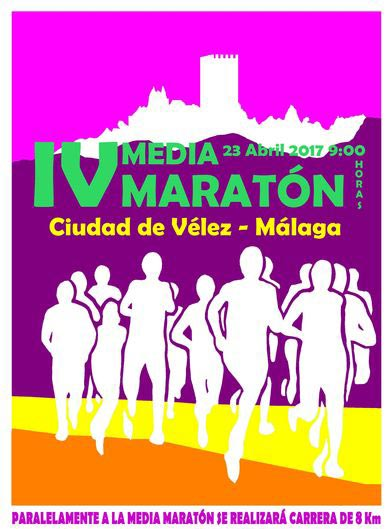 Cartel de la Media Maratón de Vélez Málaga 2017