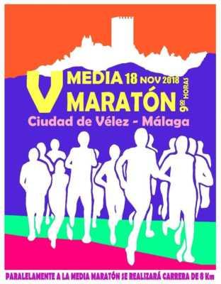 Cartel de la Media Maratón Vélez-Málaga 2018 y 8k