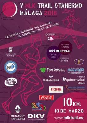 Cartel de la V MLK Trail Málaga 2018