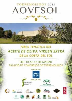 Cartel del Aovesol Torremolinos 2017. Feria aceite de oliva virgen extra