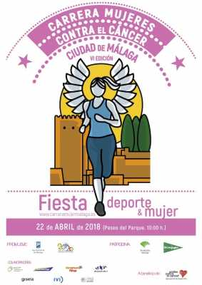 Cartel de la Carrera Mujeres Contra el Cancer Málaga 2018