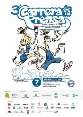 Cartel de la III Carrera de la Prensa 2018 Málaga