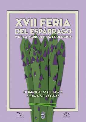 Cartel de la Feria del Espárrago de Sierra de Yeguas 2017