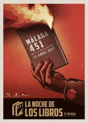 Cartel Málaga 451: La Noche de los Libros