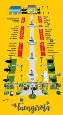 Plano casetas Feria Internacional de los Pueblos de Fuengirola 2019