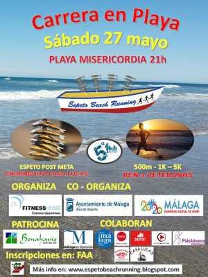 Cartel Espeto Beach Running 2017. Playa Misericordia