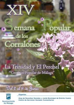 Cartel de la Semana Popular de los Corralones de Trinidad-El Perchel 2018