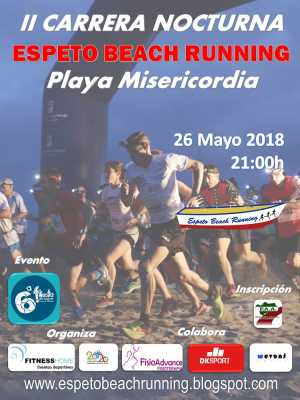 Cartel de la Espeto Beach Running Playa de la Misericordia 2018