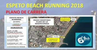 Recorrido de la Espeto Beach Running Playa de la Misericordia 2018