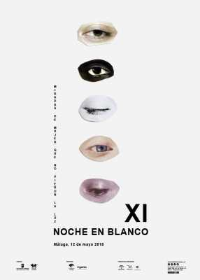 Cartel de la Noche en Blanco Málaga 2018