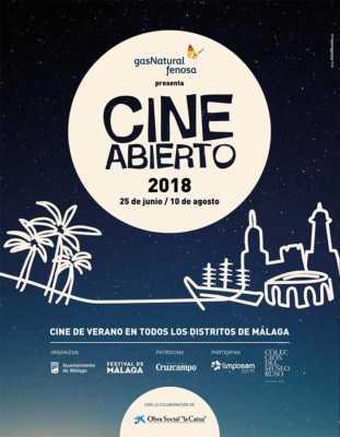 Cartel del Cine Abierto Málaga 2018