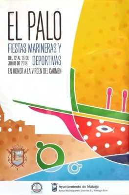 Cartel de la Feria de El Palo 2018. Fiestas marineras y deportivas