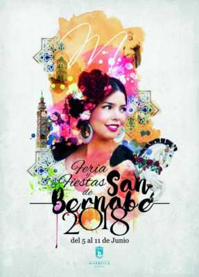 Cartel de la Feria de Marbella San Bernabé 2018