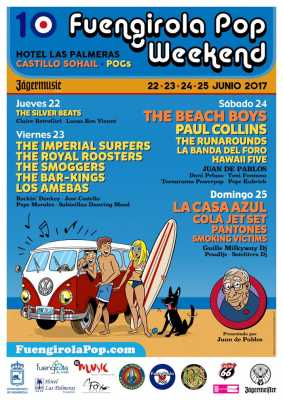 Cartel Fuengirola Pop Weekend Festival 2017