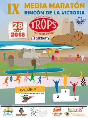 Cartel de la Media Maratón Rincón de la Victoria 2018