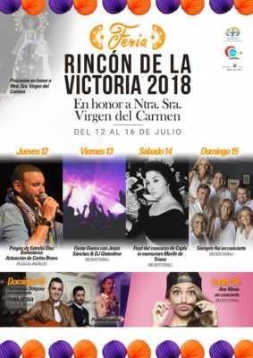 Cartel de la Feria del Carmen Rincón de la Victoria 2018