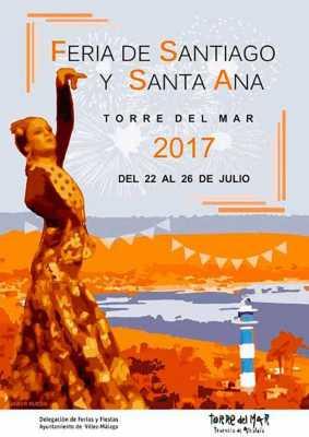Cartel de la Feria Torre del Mar 2017. Santiago y Santa Ana