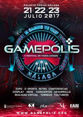 Cartel del Gamepolis 2017. Festival de Videojuegos de Málaga