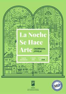 Cartel de La Noche Se Hace Arte Churriana ¡Vívela! 2018