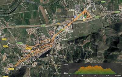 Recorrido de la Carrera Popular Valle del Azahar 2017
