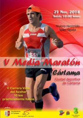 Cartel de la Media Maratón Cártama 2018 y Carrera Valle Azahar 2018