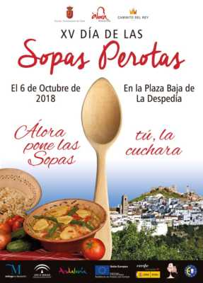Cartel del Día de las Sopas Perotas de Álora 2018