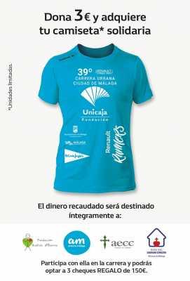 Camiseta Solidaria Carrera Urbana Ciudad de Málaga 2017