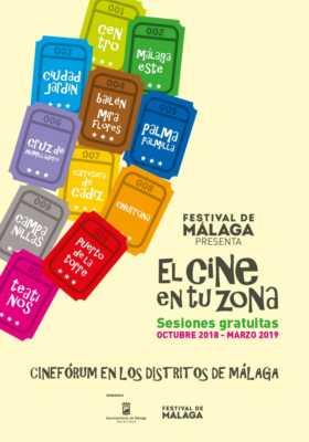 Cartel de Cine en tu Zona Málaga 2018-2019