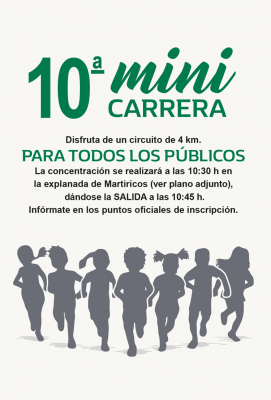 X Mini Carrera 4km cartel