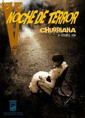 Cartel de la Noche del Terror de Churriana en Halloween 2018