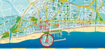 Plano de establecimientos en la Ruta de la Tapa Erótica de Fuengirola 2017